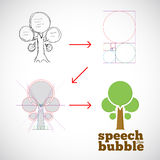 Speech Bubble Tree Abstract Vector Logo Template Royalty Free Stock Photography
