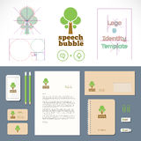 Speech Bubble Tree Logo and Identity Template Royalty Free Stock Image