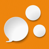 Speech Bubble Two Circles Orange Stripes Stock Image