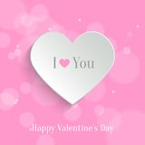 Speech bubble. Valentine's day backround Stock Photos