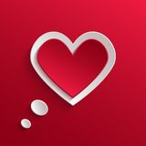 Speech bubble. Valentine's day backround Stock Photography