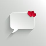Speech bubble. Valentine's day backround Stock Image