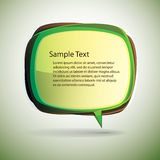 Speech bubble vector background Royalty Free Stock Photography