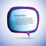 Speech Bubble Vector Background Royalty Free Stock Images