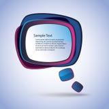 Speech Bubble Vector Background Stock Photography