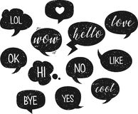 Speech bubble. Vector illustration. Grunge texture. royalty free illustration