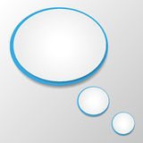 Speech bubble. Vector illustration of white and  blue  paper round speech bubble Stock Image