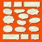 Speech bubble vector set Old paper texture Royalty Free Stock Images