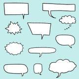 Cartoon speech bubble. Speech bubble vectors - comic book style blank dialog bubble set royalty free illustration