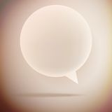 Speech bubble on vintage background. EPS10 Royalty Free Stock Photo