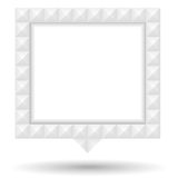 Speech Bubble with White Textured Border Royalty Free Stock Photos