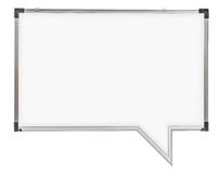 Speech bubble whiteboard isolated Stock Image