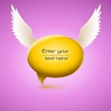Speech bubble with wing Stock Photography