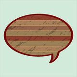 Speech Bubble in Wood Style Stock Photos