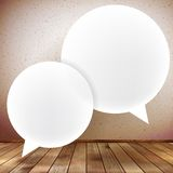 Speech bubble on wooden background. plus EPS10 Royalty Free Stock Photography