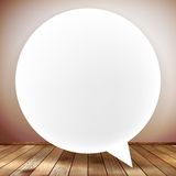 Speech bubble on wooden background. plus EPS10 Stock Photo