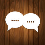 Speech Bubble On Wooden Background Royalty Free Stock Photos