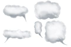 Speech bubbles 1 Stock Images