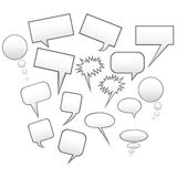 Speech bubbles. Speech vector bubbles and frames Stock Images
