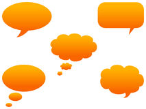 Speech bubbles. Detail of Colorful communication bubble in vector Stock Photo
