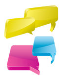 Speech Bubbles. 3D Speech And Thought Bubbles With Space For Text Stock Photography