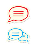 Speech Bubbles. On White Background Royalty Free Stock Images