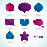 Speech bubbles. Simple Colorful communication bubbles, vector. (EPS10 file included Royalty Free Stock Photos