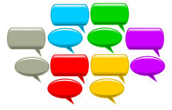 Speech bubbles. Illustration of speech bubbles in different colors Royalty Free Stock Images