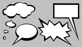 Speech bubbles. Different shapes of speech bubbles vector illustration