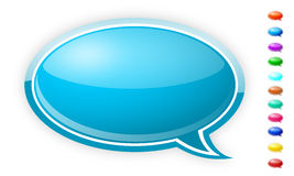 Speech bubbles. Illustration of speech bubbles in different colors. Chatting symbols Royalty Free Stock Photos