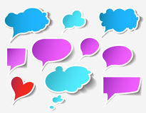 Speech bubbles. Colorful speech bubbles and dialog balloons Stock Images