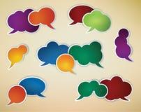 Speech bubbles Stock Photos