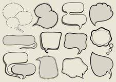 Speech bubbles. Set of doodle speech bubbles Royalty Free Stock Photography