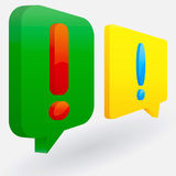 Speech bubbles. Over light grey  background Stock Images
