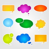 Speech bubbles. Vector comics speech bubbles illustration Stock Images