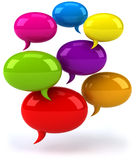 Speech bubbles. Fun Speech bubbles, 3d generated picture Royalty Free Stock Image