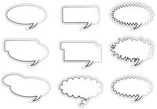 Speech bubbles. A set of empty speech bubbles Stock Photography