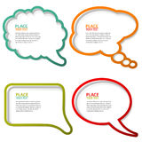 Speech Bubbles. Set of speech and thought bubbles, element for design, vector illustration Stock Images
