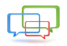 Speech bubbles Royalty Free Stock Photos