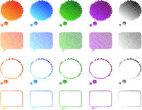 Speech Bubbles. Colored Speech Bubbles For Web Or Comics Vector Illustration