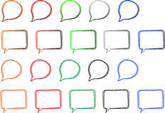 Speech Bubbles. Doodle Speech Bubbles Isolated On White Stock Illustration
