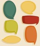 Speech bubbles. Colorful Speech bubbles, vector illustration Royalty Free Stock Photos