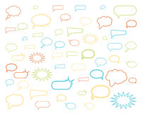 Speech bubbles. Colorful speech bubbles isolated on white background Royalty Free Stock Image