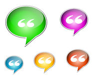 Speech bubbles. Set of glossy speech bubble icons Stock Images