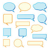 Speech bubbles. Illustrations of speech bubbles on white background stock illustration
