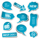 Speech Bubbles. Set of speech and thought bubbles, element for design, vector illustration Royalty Free Stock Photo