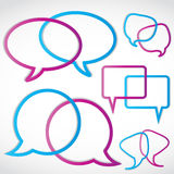 Speech Bubbles Royalty Free Stock Photography