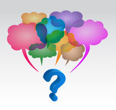 Speech Bubbles. Question mark with speech bubbles Royalty Free Stock Image