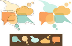 Speech Bubbles. Colorful speech bubbles in retro-style Royalty Free Stock Images