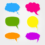 Speech bubbles. Collection of 6 colorful speech bubbles icons Royalty Free Stock Photography